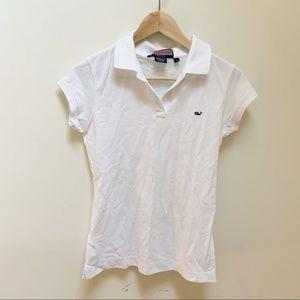 vineyard vines susie fit white polo shirt XS